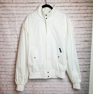 VINTAGE - MEMBERS ONLY ivory bomber jacket